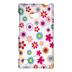 Colorful Floral Flowers Pattern Nokia Lumia 720