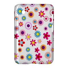 Colorful Floral Flowers Pattern Samsung Galaxy Tab 2 (7 ) P3100 Hardshell Case