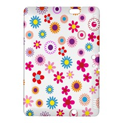 Colorful Floral Flowers Pattern Kindle Fire HDX 8.9  Hardshell Case