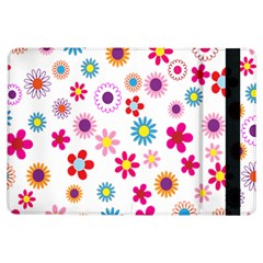 Colorful Floral Flowers Pattern iPad Air Flip