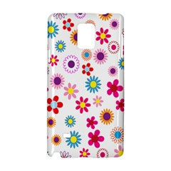Colorful Floral Flowers Pattern Samsung Galaxy Note 4 Hardshell Case