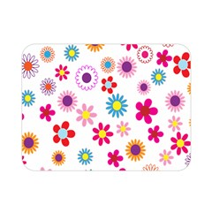 Colorful Floral Flowers Pattern Double Sided Flano Blanket (mini)