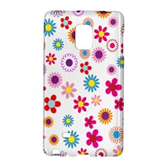 Colorful Floral Flowers Pattern Galaxy Note Edge