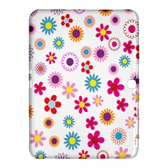 Colorful Floral Flowers Pattern Samsung Galaxy Tab 4 (10.1 ) Hardshell Case