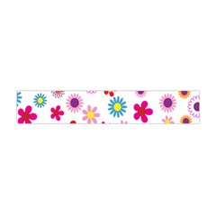 Colorful Floral Flowers Pattern Flano Scarf (mini)