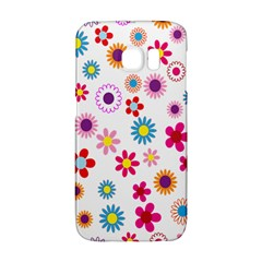 Colorful Floral Flowers Pattern Galaxy S6 Edge