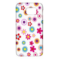 Colorful Floral Flowers Pattern Galaxy S6