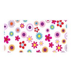 Colorful Floral Flowers Pattern Satin Wrap
