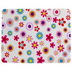 Colorful Floral Flowers Pattern Jigsaw Puzzle Photo Stand (Rectangular)