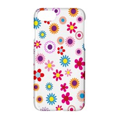 Colorful Floral Flowers Pattern Apple Iphone 7 Hardshell Case