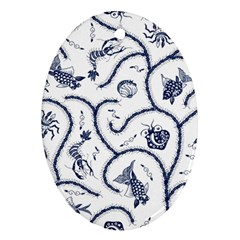Fish Pattern Ornament (Oval)