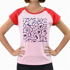 Fish Pattern Women s Cap Sleeve T-Shirt