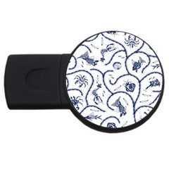 Fish Pattern USB Flash Drive Round (2 GB)