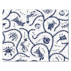 Fish Pattern Rectangular Jigsaw Puzzl