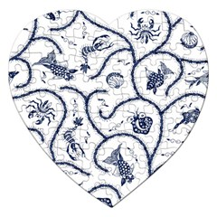 Fish Pattern Jigsaw Puzzle (Heart)