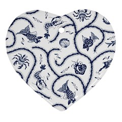 Fish Pattern Heart Ornament (two Sides)