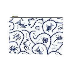 Fish Pattern Cosmetic Bag (Large)