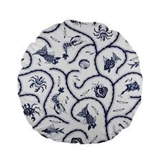 Fish Pattern Standard 15  Premium Flano Round Cushions