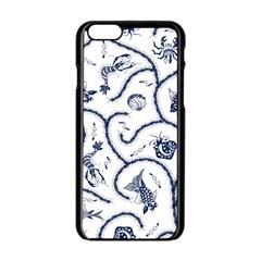 Fish Pattern Apple iPhone 6/6S Black Enamel Case