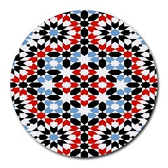 Morrocan Fez Pattern Arabic Geometrical Round Mousepads