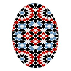 Morrocan Fez Pattern Arabic Geometrical Ornament (oval)