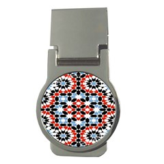 Morrocan Fez Pattern Arabic Geometrical Money Clips (round)