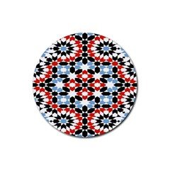 Morrocan Fez Pattern Arabic Geometrical Rubber Coaster (Round)
