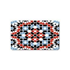 Morrocan Fez Pattern Arabic Geometrical Magnet (Name Card)