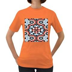 Morrocan Fez Pattern Arabic Geometrical Women s Dark T Shirt