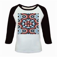 Morrocan Fez Pattern Arabic Geometrical Kids Baseball Jerseys