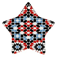 Morrocan Fez Pattern Arabic Geometrical Star Ornament (two Sides)