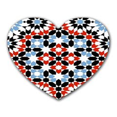 Morrocan Fez Pattern Arabic Geometrical Heart Mousepads