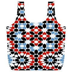 Morrocan Fez Pattern Arabic Geometrical Full Print Recycle Bags (L)