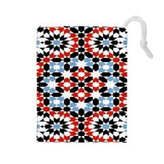 Morrocan Fez Pattern Arabic Geometrical Drawstring Pouches (Large)