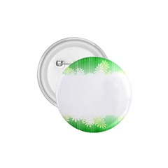 Green Floral Stripe Background 1.75  Buttons