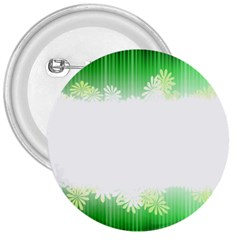 Green Floral Stripe Background 3  Buttons