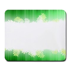 Green Floral Stripe Background Large Mousepads