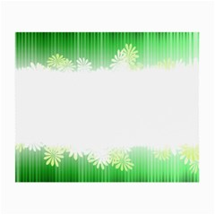 Green Floral Stripe Background Small Glasses Cloth (2-Side)