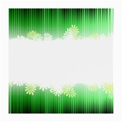 Green Floral Stripe Background Medium Glasses Cloth