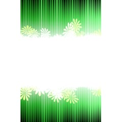 Green Floral Stripe Background 5 5  X 8 5  Notebooks