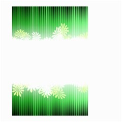 Green Floral Stripe Background Small Garden Flag (two Sides)