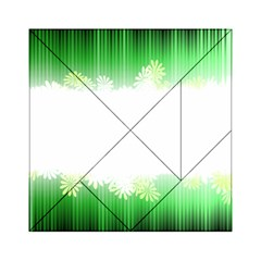 Green Floral Stripe Background Acrylic Tangram Puzzle (6  x 6 )
