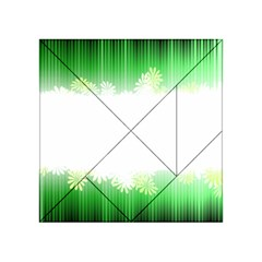 Green Floral Stripe Background Acrylic Tangram Puzzle (4  x 4 )