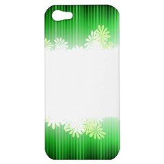 Green Floral Stripe Background Apple iPhone 5 Hardshell Case