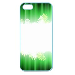 Green Floral Stripe Background Apple Seamless iPhone 5 Case (Color)