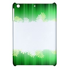 Green Floral Stripe Background Apple Ipad Mini Hardshell Case