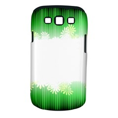 Green Floral Stripe Background Samsung Galaxy S Iii Classic Hardshell Case (pc+silicone)