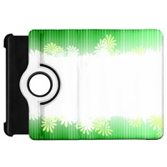Green Floral Stripe Background Kindle Fire Hd 7