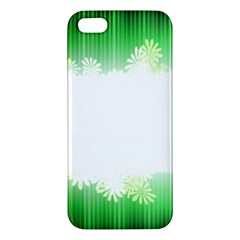 Green Floral Stripe Background Apple iPhone 5 Premium Hardshell Case
