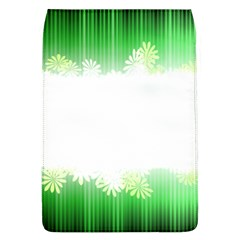 Green Floral Stripe Background Flap Covers (l)